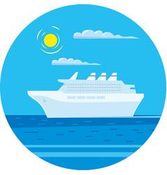 Passenger cruise liner vector