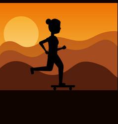people sport activity vector image