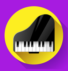 piano icon - a symbol of classical music chamber vector image