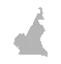 Pixel map of cameroon dotted map of cameroon vector