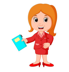 profession costume of teacher for kids vector image