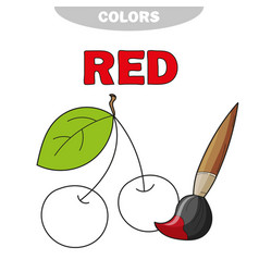 Red learn the color education vector