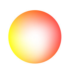 round soft warm color gradient vector image