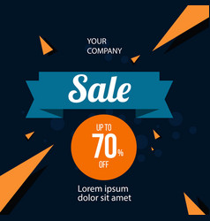 Sale up to 70 off template design vector