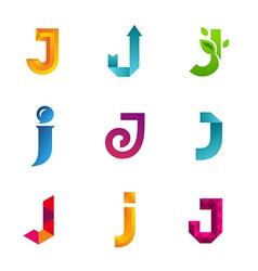 Set letter j logo icons design template vector