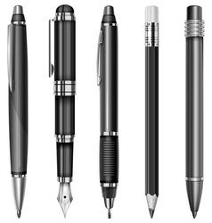 set pens 10 v vector image