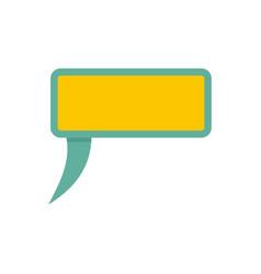 Speech bubble icon flat style vector