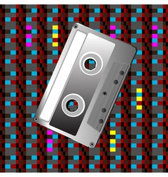 Tape on a digital pattern vector