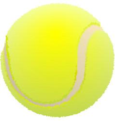 Tennis ball Ball for lawn tennis vector