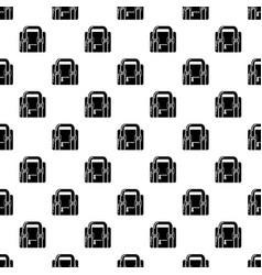 travel bag retro icon simple black style vector image