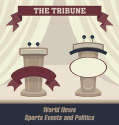 Tribunes with a scene vector