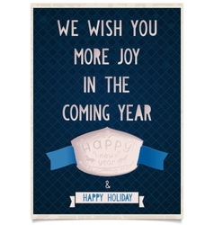 Vintage card template with the new year vector image