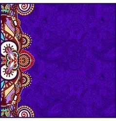 Vintage floral violet background for your design vector