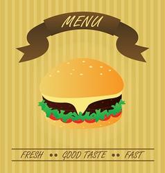 Vintage Hamburger Fastfood Menu vector