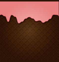 waffle with liquid glaze background vector image