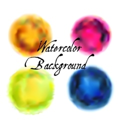 Watercolor backgrounds set vector
