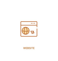 Website concept 2 colored icon simple line vector