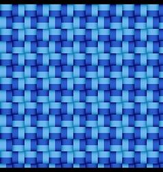 Woven blue pattern vector