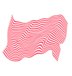 zebra and tiger stripes flag pattern wave vector image