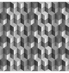 3d monochrome cubes background vector image