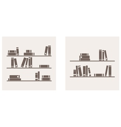 Books on the shelf set - simply retro vector image vector image