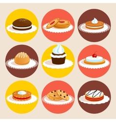 Cookies colored set vector