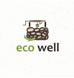 eco well vector image