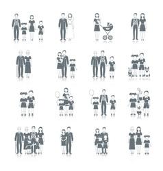 Family Icon Black vector image vector image