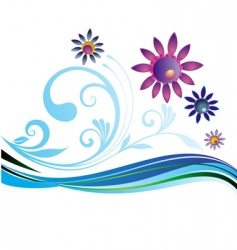 summer natural background vector image vector image