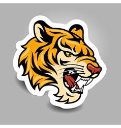 tigerhead sticker vector image