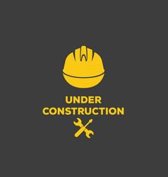 under construction logo vector image