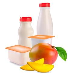 Yogurts vector image