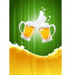 beer splashing vector image vector image