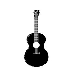 contour guitar musical instrument to play music vector image