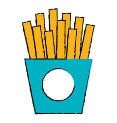 french fries potatoes icon vector image