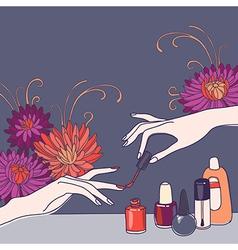 Nail salon vector image