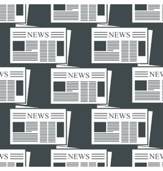 Newspaper background vector image