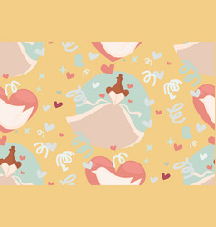Wedding abstract seamless pattern in pastel soft vector