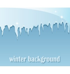 Winter background with icicles vector image vector image