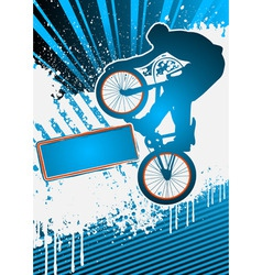 bmx cyclist poster template vector vector image vector image