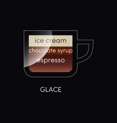 coffee cup isolated on black in flat style vector image