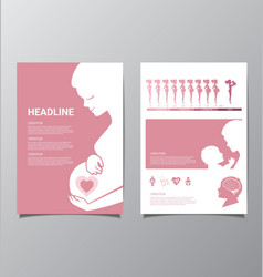 Healthy Pregnant women infographic vector image