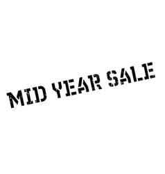 mid year sale rubber stamp vector image vector image