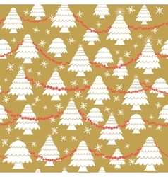 Seamless christmas pattern in flat style vector image