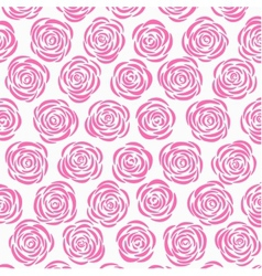White background with pink roses vector image vector image
