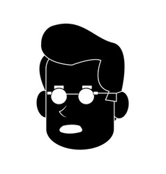 Worried middle age man icon image vector
