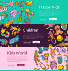 banners with place for text and hand drawn vector image vector image