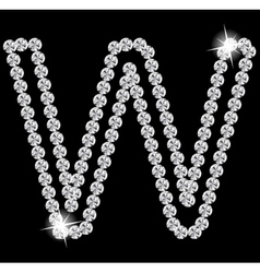 Diamond Alphabet vector image