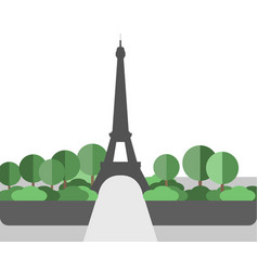 eiffel tower landscape in a flat style vector image