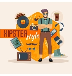 Male Hipster Character Pack vector image vector image